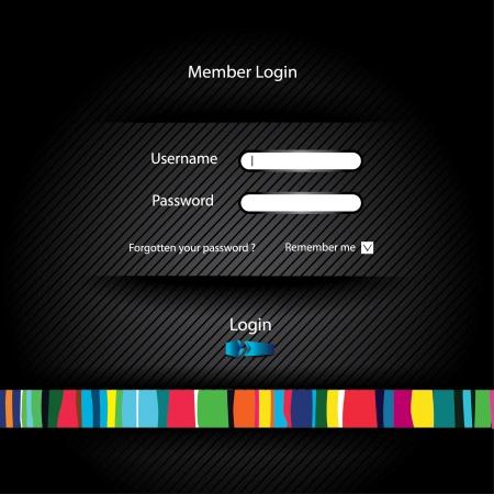 web site enter Vector