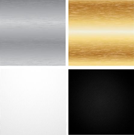 Set Metal Backgrounds Vector