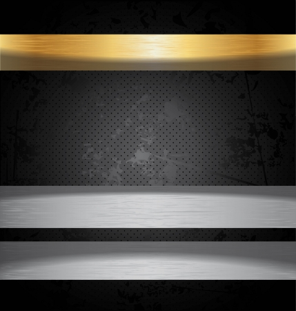 Precious metal  Vector Background  Vector