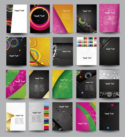 publicité de la collection d'affiches sur différents sujets.