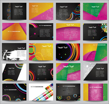 Big collection advertising posters on different topics. Vector