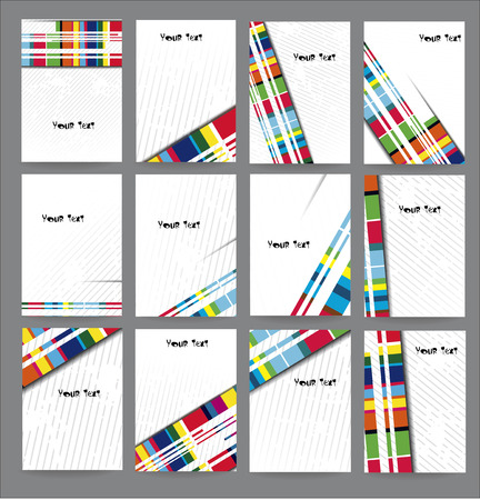 Set advertising posters Vector