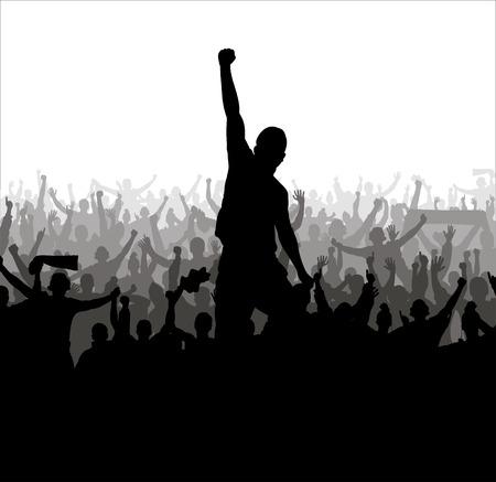 Affiche voor sport kampioenschappen en concerten