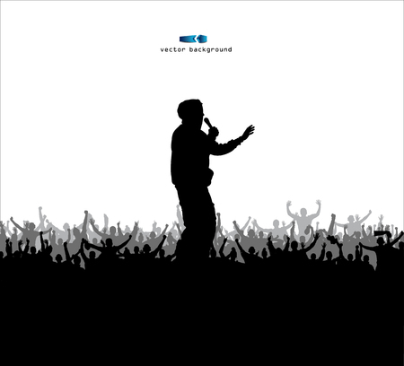 Poster for sports championships and concerts Vector