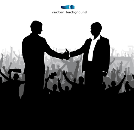 pacto: Dar la mano a un acuerdo