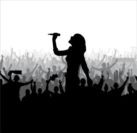 air show: Singing girl