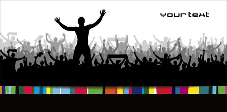 football party: Poster for sports concerts and championships