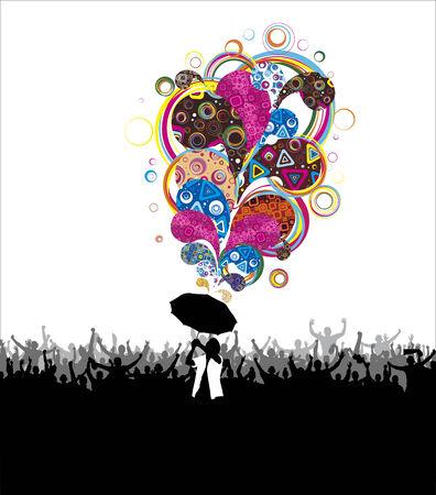 vigorous: Vigorous rain Illustration