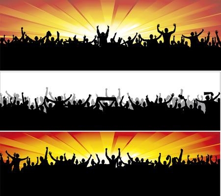 deporte: Banners de publicidad para los campeonatos deportivos y conciertos. Vectores
