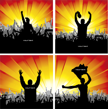 cheer up: Poster for sports concerts and championships