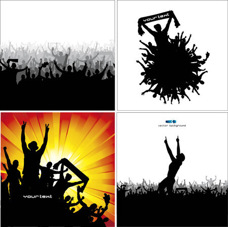 Set posters for sports championships and concerts Vector