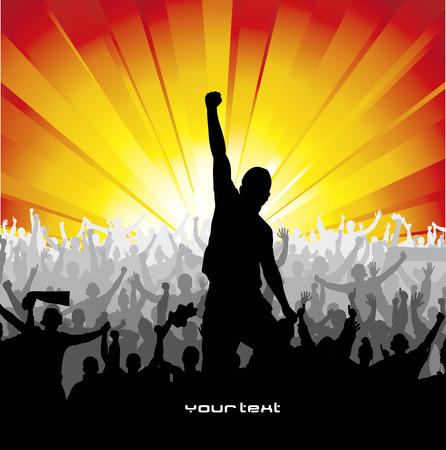 Affiche pour les concerts et championnats sportifs Banque d'images - 34231271