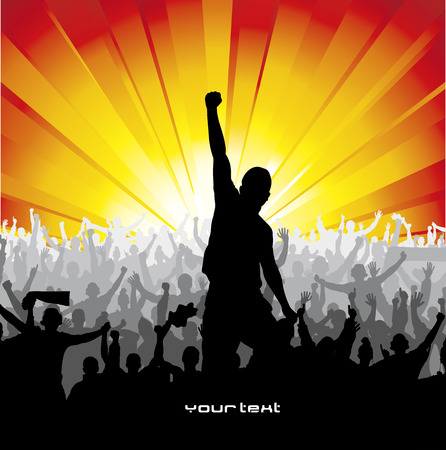 cheering crowd: Poster for sports concerts and championships