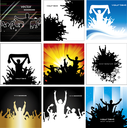Big collection banners for sports championships and concerts multicolored Vector