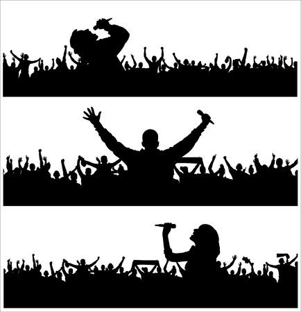 Banners voor muziekfestival Stock Illustratie