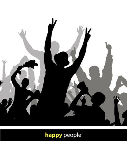 cheering crowd: Poster for sports championships and concerts