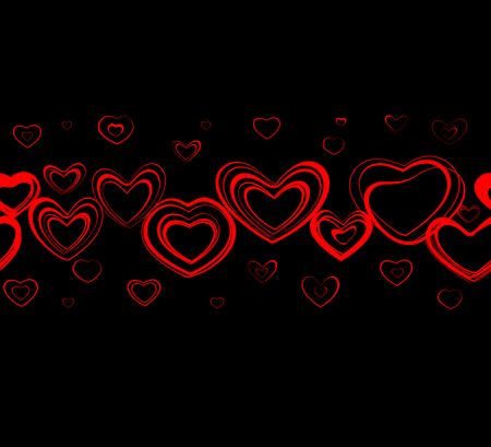 Seamless background for the Valentines day Vector