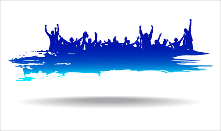 concert audience: Advertising banner sports championships and concerts Illustration