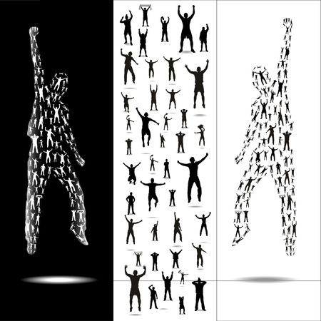 dance music: Silhouettes for sporting events and concerts