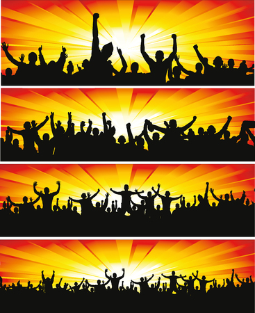 Set banners for sporting events and concerts Stock Illustratie