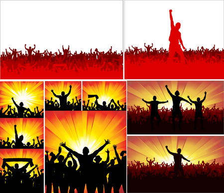 sporting: Set banners for sporting events and concerts Illustration
