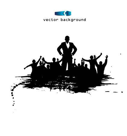 Happy businessman. Poster Vector