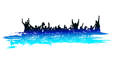 people silhouette: Banner for sporting events and concert Illustration