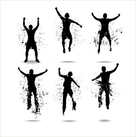 silueta humana: Siluetas de los campeonatos deportivos de banner de publicidad y conciertos