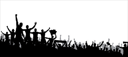 multitud de gente: Cartel para campeonatos deportivos y conciertos de música