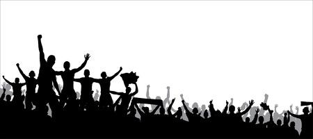 menschenmenge: Plakat für Sport-Meisterschaften und Konzerte