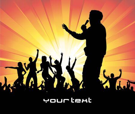 pop idol: Poster for music concert. Illustration