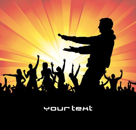 Poster for music concert. Illustration