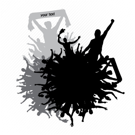 male silhouette: Poster for concerts and sports championships
