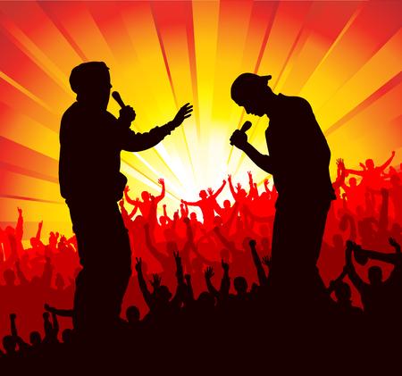 duet: Poster for concerts Illustration