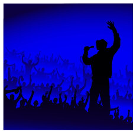 hip hop style: Poster for concerts Illustration