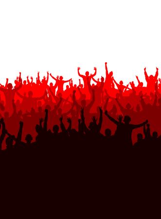 soccer stadium crowd: Advertising banner for any festive event Illustration