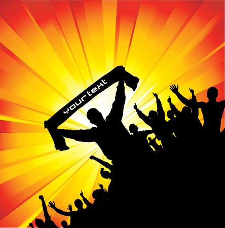 cram: Advertising banner for any festive event Illustration