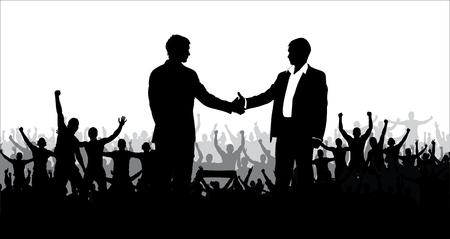 politics: Vector illustration of business or politics community
