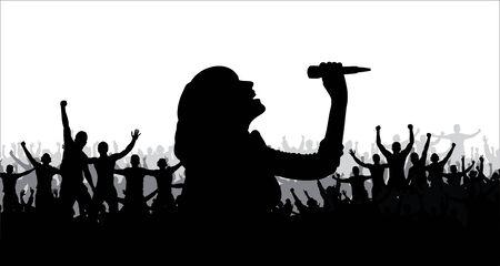 pop idol: singing girl