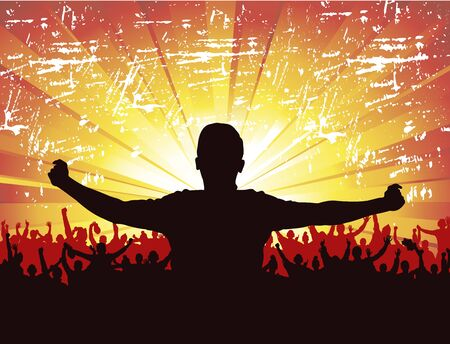 sundown: Banner for sports championship and concert