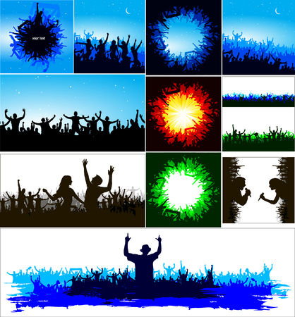 Advertising banner for sports championships and concerts. Illustration