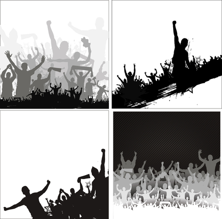male silhouette: Banners for sporting events and concerts