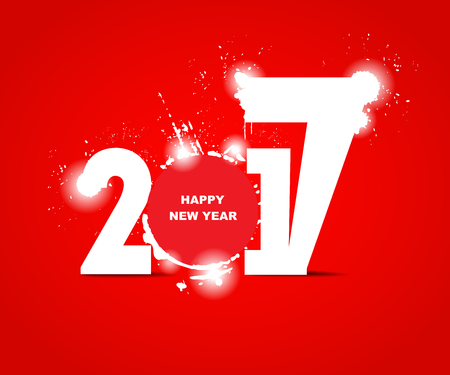 newyear card: 2017 happy new year creative design for your greetings card