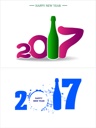 date fruit: Happy new year 2017. Abstract Holiday backgrounds