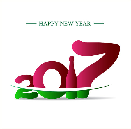 year greetings: Happy new year 2017. Abstract Holiday background 2017 new year happy creative design for your greetings banners, invitation, posters, cards, flyers, brochure, background, banners, calendar. Illustration