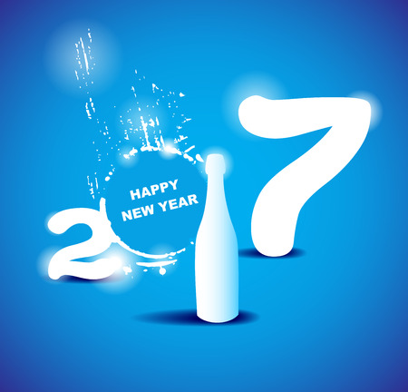 2017 happy new year creative design for your greetings card