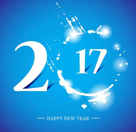 newyear: 2017 happy new year creative design for your greetings card