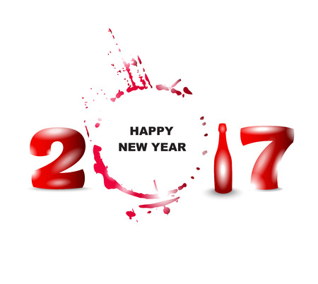 snifter: 2017 happy new year creative design for your greetings card