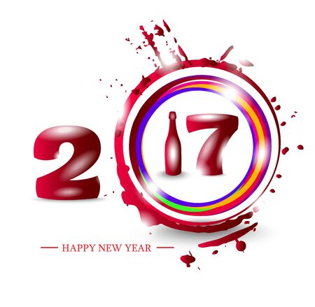new year eve: Happy New Year 2017. Abstract poster