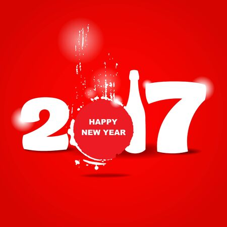 greetings card: 2017 happy new year creative design for your greetings card